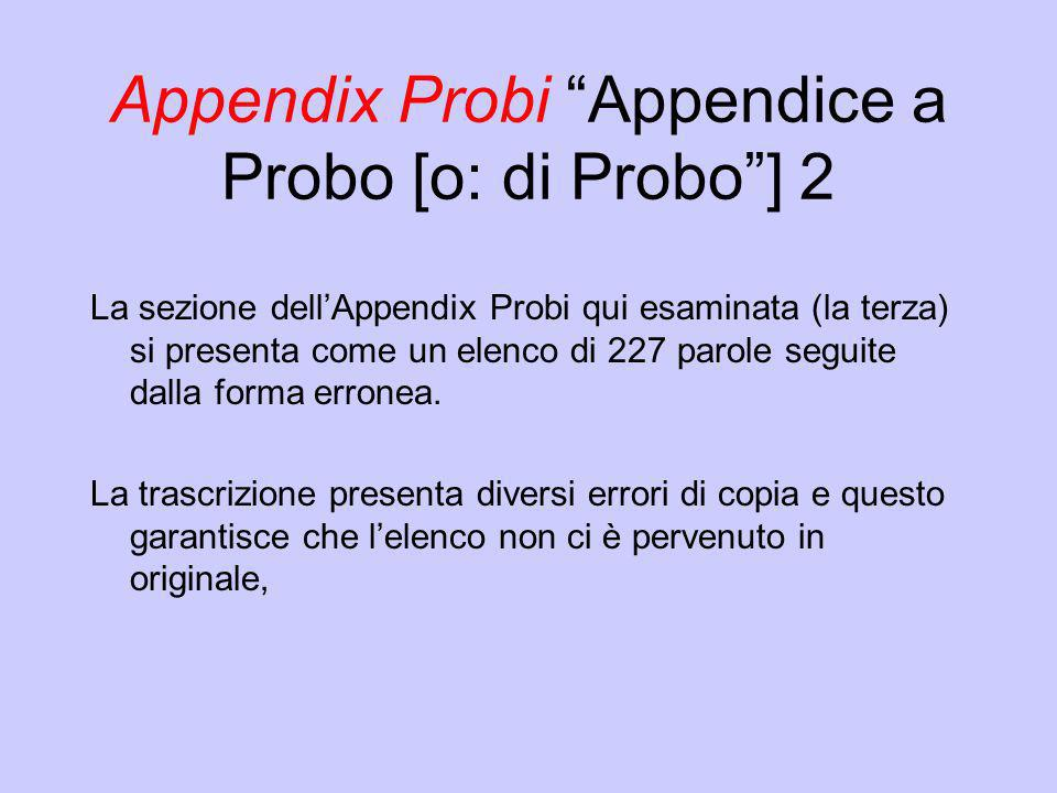 Appendix Probi Appendice a Probo [o: di Probo ] 2